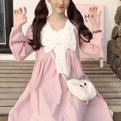 Omolon - Long-Sleeve Babydoll Dress
