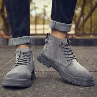WeWolf(ウィーウルフ) - Genuine-Leather Lace-Up Desert Boots