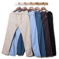 Titular - 麻布直筒裤