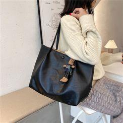 Tiff - Faux Leather Tote Bag