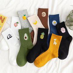 Awesocs - 情侶款水果提花襪子