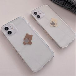BlingStar - Bear Print Phone Case - iPhone 12 Pro Max / 12 Pro / 12 / 12 mini / 11 Pro Max / 11 Pro / 11 / SE / XS Max / XS / XR / X / SE 2 / 8 / 8 Plus / 7 / 7 Plus