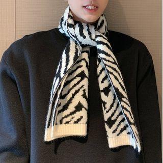 Algodon - Zebra Print Knit Scarf