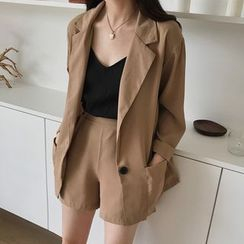 Roah  - Set: Single-Breasted Blazer + Shorts