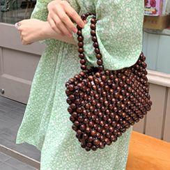 FROMBEGINNING - Wooden Bead Net Tote