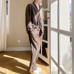 VEAZ - 長袖V領上衣/直筒褲/套裝