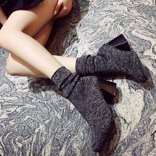 Shoeland - Block Heel Short Boots
