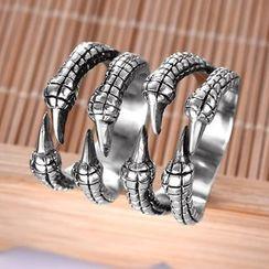 Soosina - 不锈钢爪子开口戒指