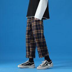 YERGO - 格子宽腿裤