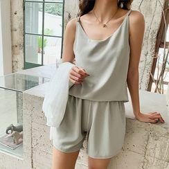 SHINSHIN - Pajama Set: Camisole Top + Shorts