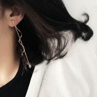 Mimishi - Rhinestone Drop Earring