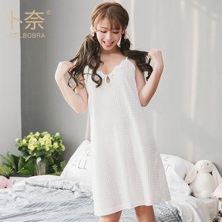 Girlbobra - 套装: 细肩带迷你连衣裙 + 短袖外套