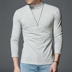 COOLIN - Mock Neck Long-Sleeve T-Shirt
