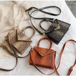 BAGSHOW - Faux Leather Handbag