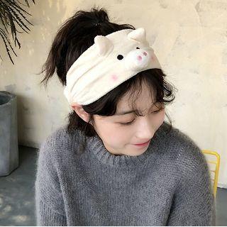 GULB - Pig Chenille Face Wash Headband