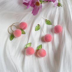 Kokyu - Peach Dangle Earring