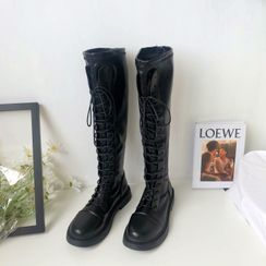 Stevvi - Lace-Up Over-The-Heel Boots