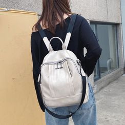 Evanki - Faux Leather Backpack