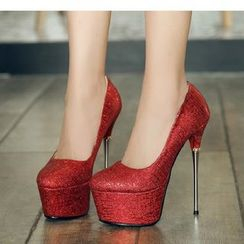 Freesia - Stiletto-Heel Platform Pumps