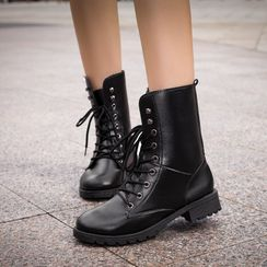 Aneka - Lace-Up Short Boots