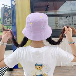 FROME - 刺繡花朵漁夫帽
