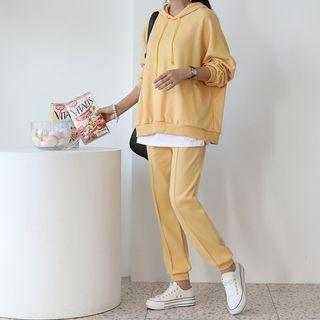 Seoul Fashion(ソウルファッション) - Set: Over-Fit Hoodie + Jogger Pants