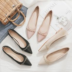 JINZ - Chained Pointed Flats