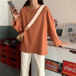 Windflower - Long-Sleeve Plain T-Shirt