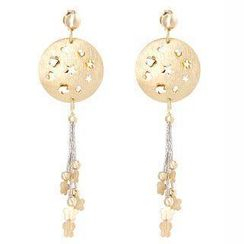 Keleo - 18K White & Yellow Gold Dangling Earrings