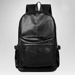 TESU - Faux Leather Laptop Backpack