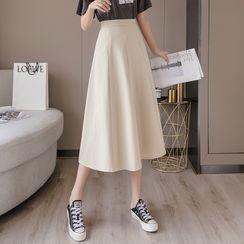 Emeraude - Midi A-Line Skirt