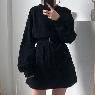 monroll - Long-Sleeve Mini A-Line Dress