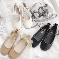 HOGG - Ankle Strap Ballet Flats