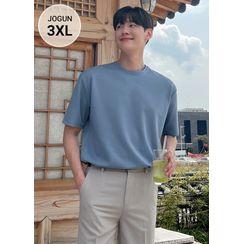 JOGUNSHOP - Short-Sleeve Color T-Shirt