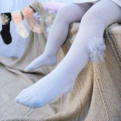 Cloud Femme - Kids Embellished Knit Tights