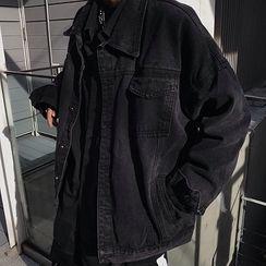 AXEN - Couple Matching Button Denim Jacket