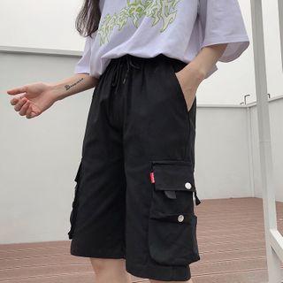 Sharis - Knee-Length Cargo Shorts