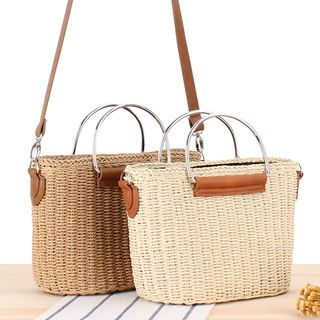 STYLE CICI - Straw Crossbody Bag