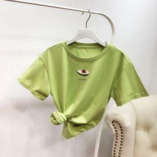 Elle Sun(エルサン) - Short-Sleeve Printed T-Shirt