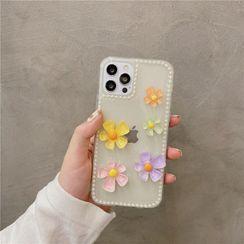 Zone Zero - 3D Flower Transparent Phone Case - iPhone 12 Pro Max / 12 Pro / 12 / 12 mini / 11 Pro Max / 11 Pro / 11 / SE / XS Max / XS / XR / X / SE 2 / 8 / 8 Plus / 7 / 7 Plus