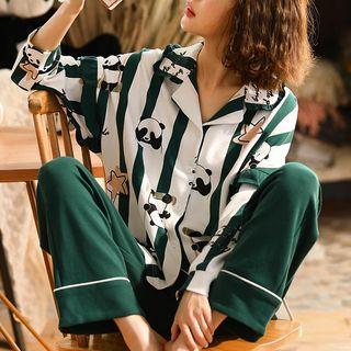 Jeony - Printed Long-Sleeve Pajama Set