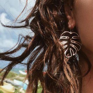 Yongge - Leaf Alloy Dangle Earring