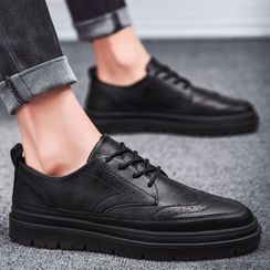 Chaoqi - Faux Leather Sneakers