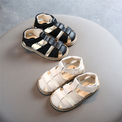 Doradas - Kids Faux-Leather Velcro Flat Sandals