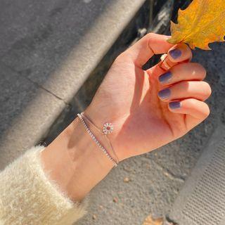Calypso - Rhinestone Flower Layered Bracelet