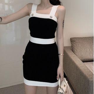 Dinse - Spaghetti Strap Knit Mini Bodycon Dress