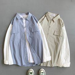 Cowpow - Color Block Shirt Jacket