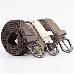 Leatha - 純色編織腰帶