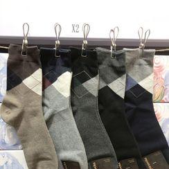 Yolunder - 菱格襪子