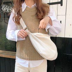 Eastin - Plain Canvas Crossbody Bag